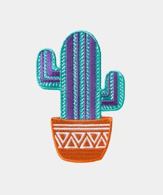 Terracotta Potta #patch - Hey Chickadee #cactus