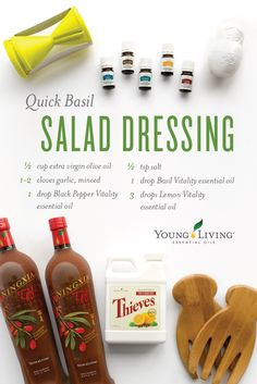 Whip up salad dressing with YL Vitality oils... #YLtip Discoveryv.com/heather rose.com  Member #3668549