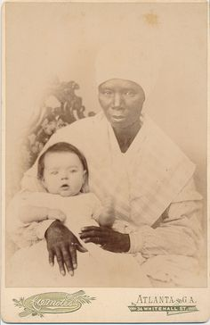 Cabinet Card, Nanny And Infant Child, C.W. Motes, Photographer, Atlanta, Georgia | Flickr - Photo Sharing!