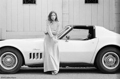 Joan Didion and her Chevy Stingray
