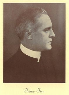 Father Finn served as the Paulist Choristers' conductor. This photo appeared in the Paulist Choristers' Silver Jubilee Concert program in January 29th, 1929.