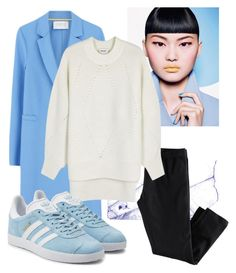 """School outfit 😏"" by doroshenkosofiya on Polyvore featuring мода, H&M, Harris Wharf London, DKNY и adidas Originals"
