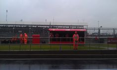it was/is wet all around during P1 | via Twitter / InsideFerrari 2012
