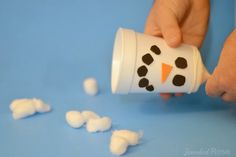 Snow shooters....Hours worth of fun. So easy and they work wonderfully! We used a paper cup and it worked fine.