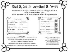 This is a great resource to use in a literacy center to help your students apply their knowledge of special phonics patterns in words within sentences and show their comprehension of a sentence. Students should be able to recognize special phonics patterns while reading words by themselves and in sentences and stories.