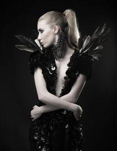 Photographer/Concept: Stoney Darkstone Model: Lulu Lockhart Makeup: Zaneta Swiatlowska Additional Styling: Asia Werbel Warddrobe/Jewelry/Accessories: VO, Unkindness of Crows, Rokit Vintage, and Asia Werbel Headpiece: Royal Shakespeare Theatre Costume