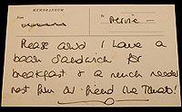 Princess Diana message