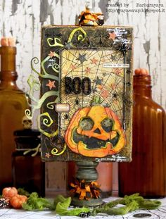 Hi all and welcome to another week on the Simon Says Stamp Monday Challenge Thank you for joining us for the … Halloween Paper Crafts, Halloween Tags, Holidays Halloween, Vintage Halloween, Halloween Decorations, Halloween 2017, Happy Halloween, Tim Holtz Dies, Halloween Scrapbook