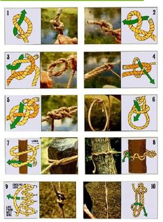 HOW TO make ten most useful knots