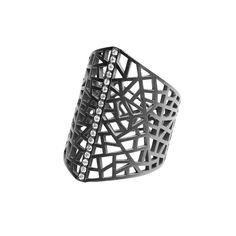 #MelissaKayeJewelry Zoe Marie #Ring in #18k black #gold with #diamonds #jewelry #finejewelry #fashion #style