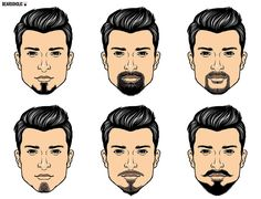 6 different goatee beard styles