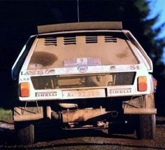 """amjayes: """" """"I tested it for 35 miles on gravel before the rally so I´m not really in yet."""" - Henri Toivonen before winning the 1985 RAC Rally with the new Delta 30 years ago """" Martini Racing, Off Road Racing, Lancia Delta, Rally Car, Car Brands, Car And Driver, Cool Walls, Maserati, Cars Motorcycles"""
