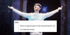 The throne meant for Satansoo and Satansoo only, set with his own personal group of slaves (most likely the 3 beagles of EXO) #Kyungsoo #DO