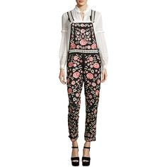 960e5acd15 Needle   Thread Cherry Blossom Embroidered Dungarees (8.686.865 IDR) ❤  liked on