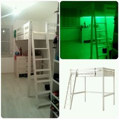 IKEA hack: Stora Änderung von 140 x 200 cm auf 110 x 200 cm und Umbau der Treppe
