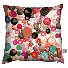 Boutons Cushion, £23.50, now featured on Fab.