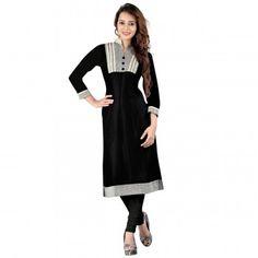 Kurtis - Buy Designer Kurti Online For Women Off - IndiaRush Girls Kurti, Ethnic Kurti, Printed Kurti, Online Collections, Black Print, Normcore, India, Stylish, Coat