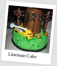 Birthday Cake for Electrical Lineman