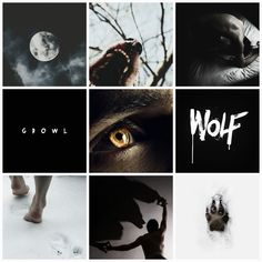 Werewolf aesthetic collage by me