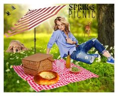 """""""Spring Picnic"""" by seadbeady ❤ liked on Polyvore featuring art and springpicnic"""