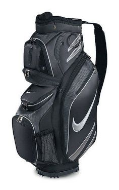 f1bd0dc6c9e New Nike 2011 M9 Golf Cart Bag (Black Silver) by Nike.  99.99
