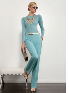 St. John ~ monochromatic + amazing color This,but in gold lame is what I want for my trap act