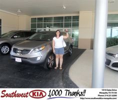 #HappyAnniversary to Jodi Pistone on your 2012 #Kia #Sportage from Michael Stanton at Southwest Kia Mesquite!