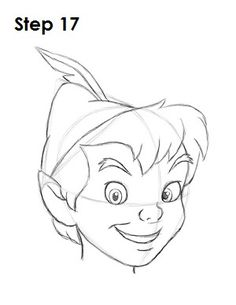 How to Draw Peter Pan Step 17