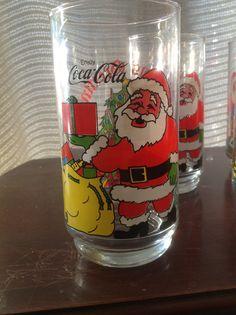 vintage Coke glasses from childhood