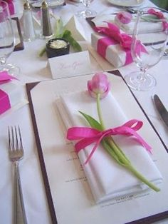 Bridal shower favors presented as part of the tablescape. See more bridal shower favor ideas at www.one-stop-party-ideas.com #BridalShowerFavors