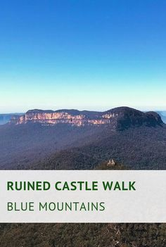 The Ruined Castle walking track is a challenging bush trail leading to an iconic landmark in the Blue Mountains, starting at the famous Golden Stairs. Mountain City, Blue Mountain, Best Travel Guides, Travel Tips, Australian Holidays, I Want To Travel, A Whole New World, Best Hikes, Cover Photos
