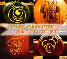 13 Spooktacular Disney Character Jack O'Lantern Ideas & Templates