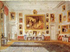 Petworth, el salón, color de cuerpo en papel azul, 1828