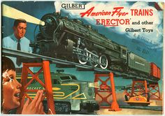American Flyer Trains - 1954 A.C. Gilbert Toy Catalog Cover