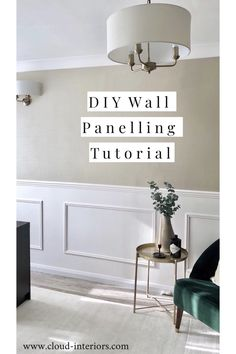 I have put together this simple 'how to' tutorial to show you how you can easily add panelling in your home! Home Living Room, Living Room Designs, Living Room Decor, Living Room Panelling, Wall Panelling, Modern Wall Paneling, Paneling Walls, Bedroom Wall, Bedroom Decor