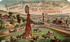 vintage windmill art