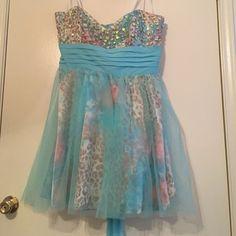 Selling this Jeweled Leopard Formal Dress. Plus size. in my Poshmark closet! My username is: annacscott1. #shopmycloset #poshmark #fashion #shopping #style #forsale #Deb #Dresses