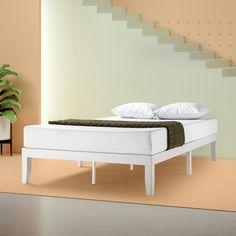 """Free 2-day shipping. Buy Zinus Moiz 14"""" Wood Platform Bed, Twin at Walmart.com Solid Wood Platform Bed, Platform Bed Frame, Bedroom Furniture Stores, Furniture Deals, Mattress Springs, Under Bed Storage, Adjustable Beds, New Beds, Wood Slats"""