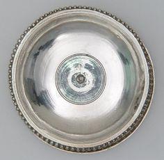 Platter; 4th c Romano-British; Found: Mildenhall, Suffolk, England; Medium: silver, incised