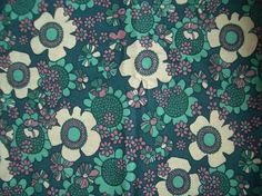 Vintage Curtain fabric - 1960s