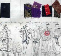 Inter Style Paris ™ - Croquis St Laurent Ysl, Yohji Yamamoto, Haiku, Fashion Sketches, Yves Saint Laurent, Favorite Things, Tights, Doodles, Vogue