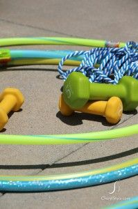 Stay Cool in the Pool with a DIY Hula Hoop Obstacle Course