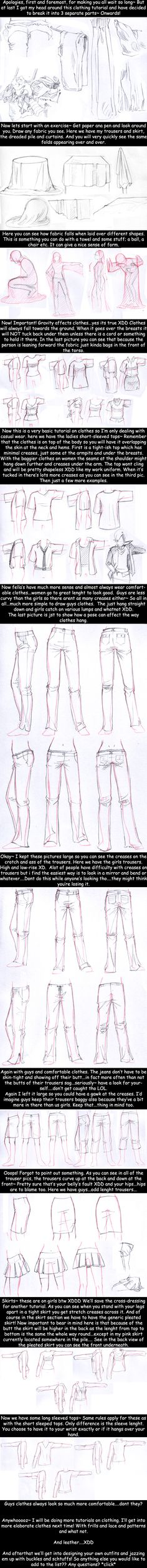 Clothes Tutorial ✤ || CHARACTER DESIGN REFERENCES | Find more at https://www.facebook.com/CharacterDesignReferences if you're looking for: #line #art #character #design #model #sheet #illustration #expressions #best #concept #animation #drawing #archive #library #reference #anatomy #traditional #draw #development #artist #pose #settei #gestures #how #to #tutorial #conceptart #modelsheet #cartoon || ✤