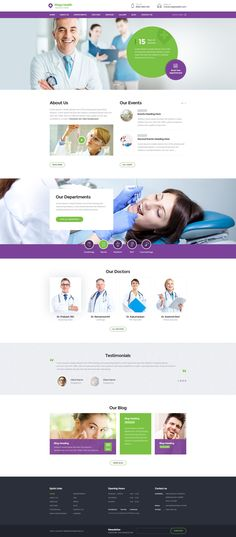 Mega Health : Theme for Health and Medical Centers PSD template. It has 18 PSD File and 2 Home page variation. #medical #psdtemplate