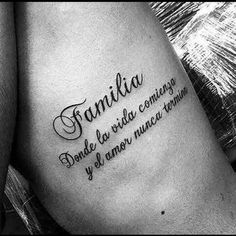 tattoos about family quote - tattoos about family . tattoos about family for men . tattoos about family parents . tattoos about family symbols . tattoos about family quote . tattoos about family small . tattoos about family ideas Phrase Tattoos, Body Art Tattoos, Small Tattoos, Sleeve Tattoos, Tatoos, Tatuajes Tattoos, Tattoo Phrases, Tattoo Lettering Fonts, Good Family Tattoo