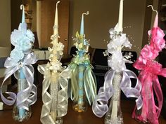 Hand Dipped First Communion / Palm Sunday Decorated Candles and Religious Candles Church Christmas Decorations, Christmas Ornaments, Fancy Candles, Boho Wedding Shoes, Baptism Centerpieces, Wedding List, Wedding Ideas, Palm Sunday, Chocolate Hearts