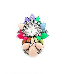 Bright Lights Multi - Chunky statement ring featuring multilayer rhinestone gems  S/M/L fit