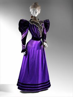 gown  -   European  -  1890's   Fripperies and Fobs