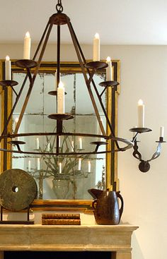 forged iron chandelier for Wayland project