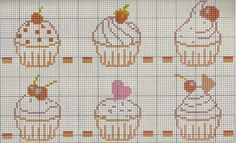 "Angolo Delicate: Charts Punto Croce ""Cupcakes"""